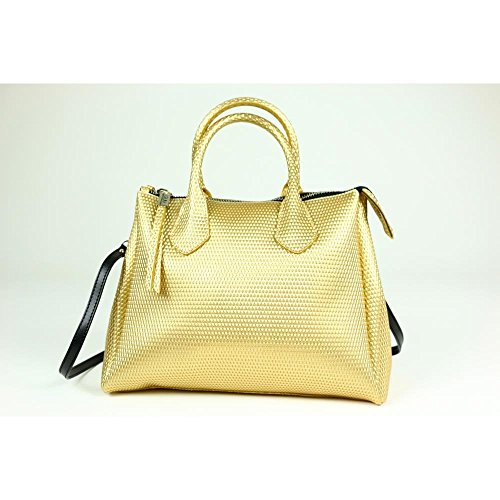 Borsa a mano Gum Gianni Chiarini Design media in gomma color oro