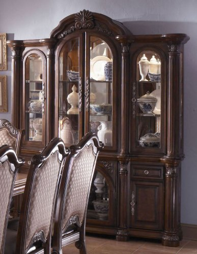 Picture of Aico Furniture China Cabinet  - Cafe Noir (N53005R-46R) (N53005R-46R) (China Cabinets)
