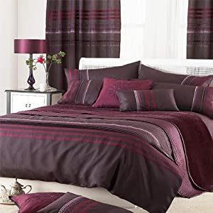 parure housse de couette 2 personnes bellagio taffetas prune de damas 230 x 220 cm amazon. Black Bedroom Furniture Sets. Home Design Ideas