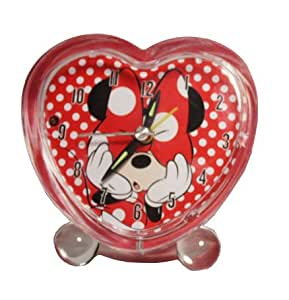 Disney Minnie Mouse Heart Shaped Alarm Clock Amazoncouk