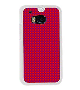 Purple Dots Pattern 2D Hard Polycarbonate Designer Back Case Cover for HTC One M8 :: HTC M8 :: HTC One M8 Eye :: HTC One M8 Dual Sim :: HTC One M8s