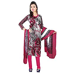 Women's Ethnic Designer Clothing Printed Party Wear Cotton White Un Stitch Branded Salwar Suit & Dupatta Dress Material for women From Lookslady