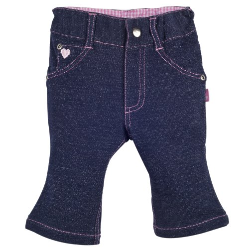 Elegant Baby Baby'S First Jeans For Newborn Or Infant In Dark Denim With Pink Trim Size 3-6 Months front-868812