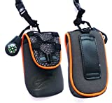 Black / Orange Soft Neoprene Extreme Sports Pouch suitable for T Mobile Pulse Mini