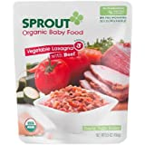 Sprout Organic Baby Food: 3 Advanced: Meals with Texture, Vegetable Lasagna with Beef 5.5 oz (156 g)(PACK OF 3)