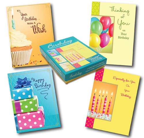 Designer Greetings Birthday Greeting Card Assortment, Box of 12 Cards and 13 Colored Envelopes (658-00100-000)