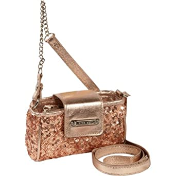 Nine West Handbags Flash Lite Mini Tech Crossbody (Rose Gold)
