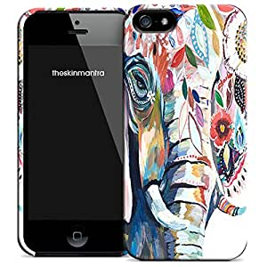 Theskinmantra Elephant painting back cover for Apple iPhone 5S