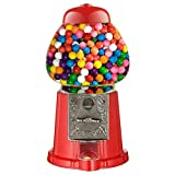 Red Mini Gumball Dispenser Machine Toy With Bubble Gum Party Bag Coin Opreated