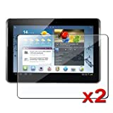 eForCity 2 packs Reusable Screen Protectors Compatible with Samsung© Galaxy Tab 2/ 10.1/ P5100/ P5110