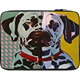 Snoogg Digital Dog 12 To 12.6 Inch Laptop Netbook Notebook Slipcase Sleeve