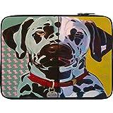 Snoogg Digital Dog 12 To 12.6 Inch Laptop Netbook Notebook Slipcase Sleeve