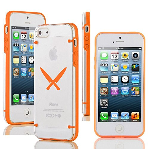 """Apple Iphone 6 (4.7"""") Ultra Thin Transparent Clear Hard Tpu Case Cover Chef Knives (Orange)"""