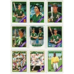 Oakland Athletics (1988) (1989) (1990) Topps Baseball Master Team Sets with year-end... by Topps