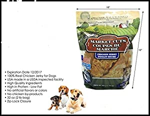 Dingo 32oz Bag Of Market Cuts 100% Chicken Jerky Natural Dog Treats Made in USA Only ...