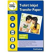 Full Colors 120gsm T-Shirt Inkjet Transfer Paper Light Fabrics