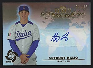 2013 Topps Tribute WBC Autographs #ARI3 - Anthony Rizzo, Chicago Cubs - Team Italy by Topps