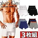 (カルバンクライン) Calvin Klein ボクサーパンツ 3枚組みセット COTTON STRETCH 3 PACK BOXER BRIEF メンズ [並行輸入品]