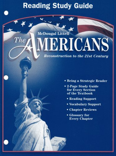 The Americans: Reading Study Guide (mcdougal Littell)
