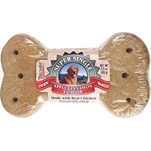 Evolve pet 39004 Apple Cinnamon Giant Dog Biscuit (Case of 30)