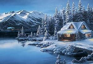 Amazon.com - Winter Train Scene Christmas Card - Greeting ...