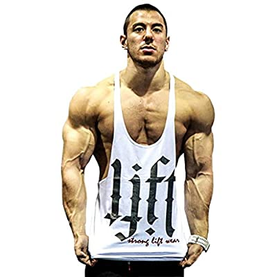 Ouber Men's Power Lifting Bodybuilding Stringer Y-back Gym Tank Tops