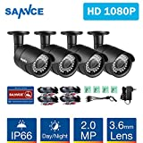 SANNCE 4 Metal Security Camera Kits 1/2.7