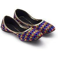 Great Art Women Girls Rajasthani Jaipuri Jutti Mojari Jaipuri Design Lightweight Ballerina Sandals 301-5
