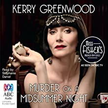 Murder on a Midsummer Night Audiobook by Kerry Greenwood Narrated by Stephanie Daniel