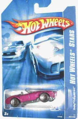 Code Car Series -#13 Shelby Cobra 427 S/C Magenta 10-Spoke Wheels #2007-97 Mattel Hot Wheels 1:64 Scale Collectible Die Cast Car - 1