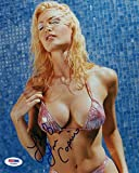 CAPRICE BOURRET SIGNED AUTOGRAPHED 8x10 PHOTO VERY SEXY BIKINI PSA/DNA