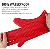 Oven Mitts Gloves, X-Chef Heat Resistant Silicone Gloves BBQ Gloves for Cooking Baking Barbecue Potholder