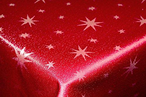 Tischdecke-160cm-Rund-rot-silber-mit-Lurex-Garn-und-eingewebten-Sternen-dekorativ-fr-die-Weihnachtszeit-in-Gold-RotSilber-AnthrazitSilber-und-Silber-auerdem-in-vielen-Gren-erhltlich-und-natrlich-pfleg