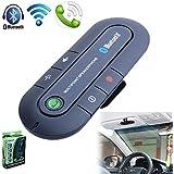 Signstek Portable Multipoint Wireless Hands-Free Bluetooth Sun Visor In-Car Speakerphone Car Kit*Black*