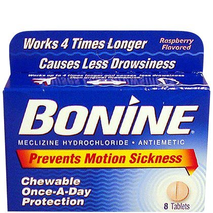 Bonine Motion Sickness Tablets-Raspberry-8 ct. (Quantity of 6)