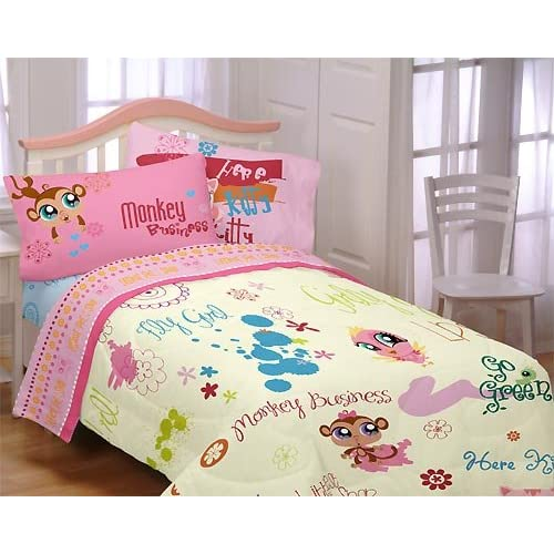Littlest Pet Shop Bedding: Littlest Pet Shop Bedding Set Comforter And Sheets 4 Pc