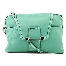 Kooba Handbags Emery Clutch, Jade, One Size