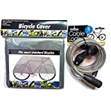 Bicycle Cover And 6 Ft. Cable Lock (with 2 Keys)