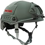 OneTigris サバゲーヘルメット ファストヘルメット MHタイプ 米軍レプリカ装備 多目的 パラシュート・作業・防災など 軽量 (グレー)