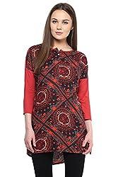 Akkriti by Pantaloons Women's Tunic ( 205000005579005, Red, Medium)