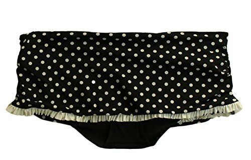 Profile by Gottex Tea at 3 Shirred Flirty Skirted Hipster Bottom - Black/White - 12 (Profile Gottex Tea At 3 compare prices)