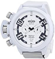 Welder by U-Boat K24 Oversize Chronograph White Ion-Plated Steel Mens Watch K24-3311 from Welder