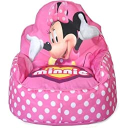 Non-Removable Vinyl Cover, Minnie Mouse Sofa Chair, Pink