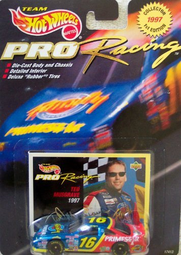 Hot Wheels 1997 1st Edition Ted Musgrave #16 Pro Racing Collector 1:64 Scale Die Cast Car - 1