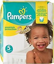 Pampers Premium Protection Größe 5 (Junior) 11-23kg, Windeln, 1er Pack (1 x 136 Stück)