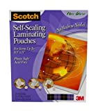 51HjskoZeOL. SL160  Scotch Self Sealing Laminating Pouches  Letter Size, Matte Finish, 9 1/16 x 11 5/8 Inches, 25 Pouch Pack