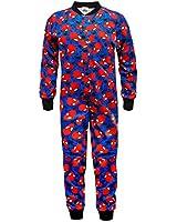 Marvel Comics Spiderman Official Gift Boys Kids Pyjama Onesie Blue (RRP £14.99!)