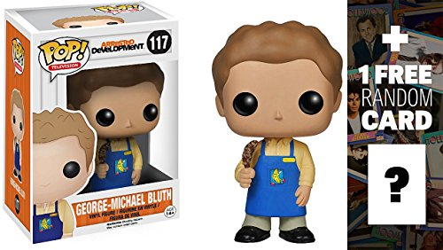 George Michael Bluth in Banana Stand Apron: Funko POP! x Arrested Development Vinyl Figure + 1 FREE Official Hollywood themed Trading Card Bundle [39493]