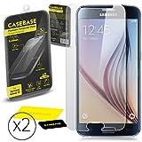 CaseBase® - Pack de deux Premium Protections d'écran en Verre Trempé pour Samsung Galaxy S6