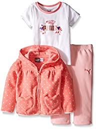 PUMA Baby-Girls 3 Piece Hooded Polka…
